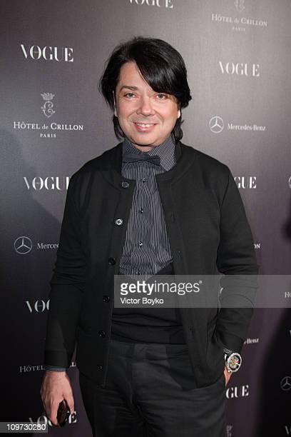 Valentin Yudashkin attends Le Petit Salon Des Jeunes Createurs cocktail hosted by Bar Vogue at Hotel Crillon on March 2, 2011 in Paris, France.