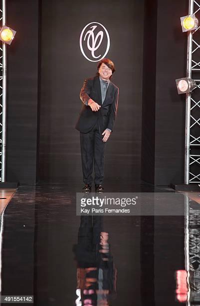 Valentin Yudashkin walks the runway during the Valentin Yudashkin show as part of the Paris Fashion Week Womenswear Spring/Summer 2016 on October 6,...