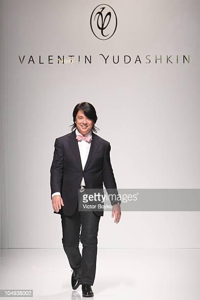 Valentin Yudashkin walks the runway during the Valentin Yudashkin Ready to Wear Spring/Summer 2011 show during Paris Fashion Week at Les Beaux-Arts...