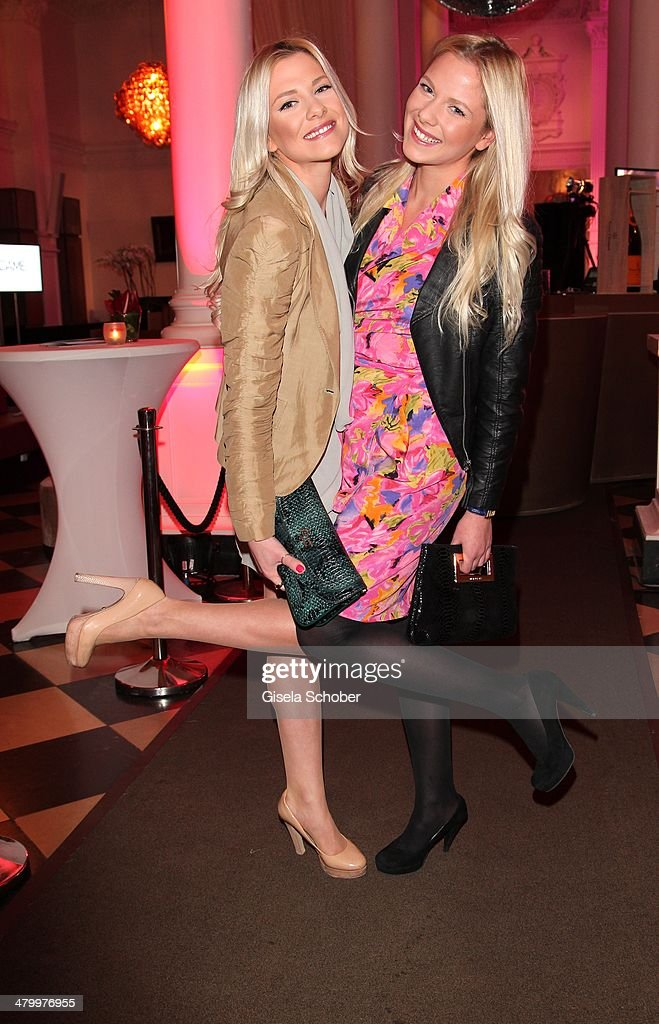 Valentina and sister Cheyenne Pahde attend the AMREF Charity Gala 'Come Fly With Us' at Rilano No. 6 on March 21, 2014 in Munich, Germany.