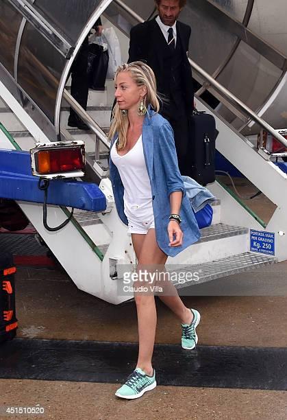 Valentina Baldini arrives at Malpensa Airport on June 26 2014 in Milan Italy