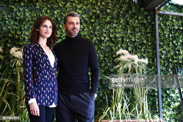 Valentina Belle and Luca Argentero attend 'Sirene' tv show photocall at Hotel Bernini on October 24 2017 in Rome Italy