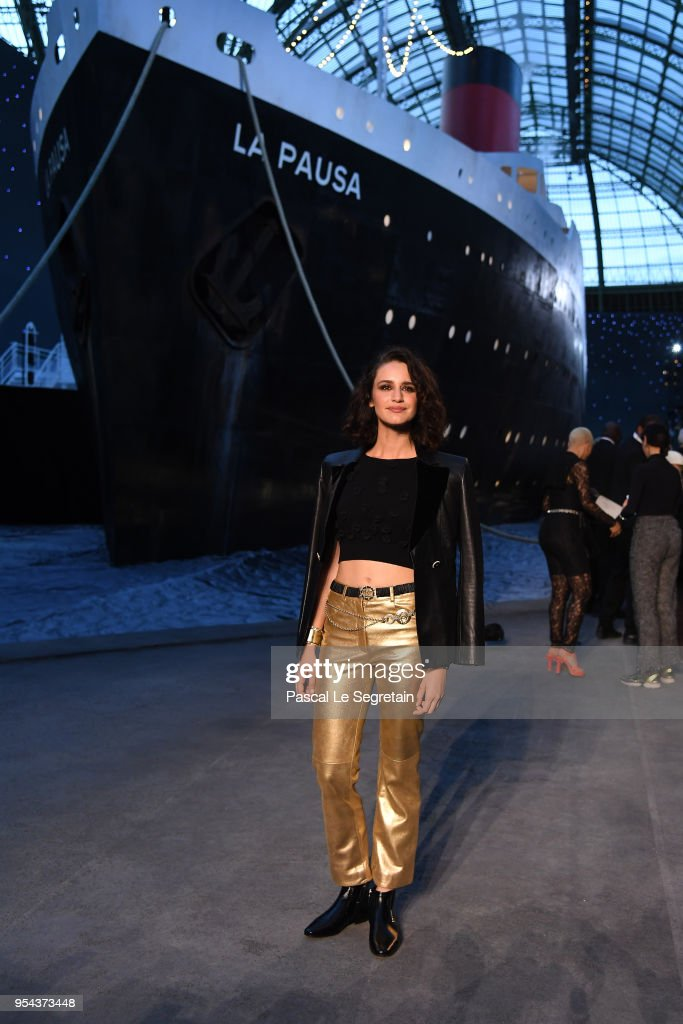 Valentina Belle attends the Chanel Cruise 2018/2019 Collection at Le Grand Palais on May 3, 2018 in Paris, France.