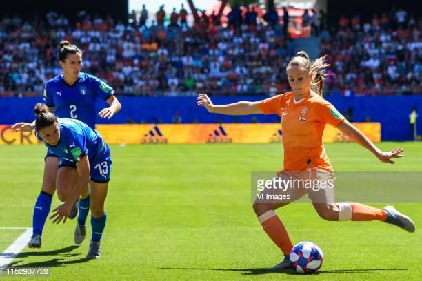 Valentina Bergsmaschi of Italy women, Elisa Bartoli of Italy women, Lieke Martens of Netherlands women during the FIFA Women's World Cup France 2019...