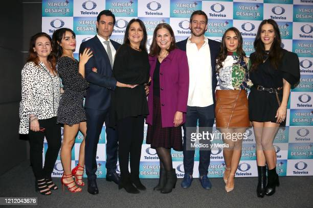 Valentina Buzzurro David Zepeda Daniela Romo Rosy Ocampo Juan Diego Covarrubias Julia Urbini and Claudia Álvarez poses for photos during the...