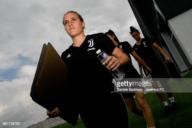 Valentina Cernoia during the Juventus Women training session on May 23 2018 in Turin Italy