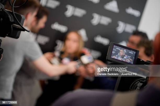 Valentina Cernoia during the media day before the Juventus Women training session on May 23 2018 in Turin Italy