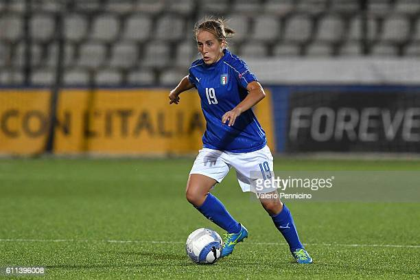 Valentina Cernoia of Italy in action during the UEFA Women's Euro 2017 Qualifier Group 6 match between Italy and Czech Republic at Stadio Silvio...