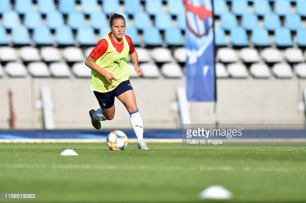 Valentina Cernoia of Italy Women in action during a training session at Stadium Lille Metropole on June 17, 2019 in in Villeneuve d'Ascq near Lille,...