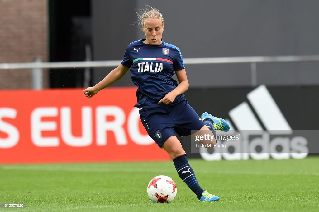 Valentina Cernoia of Italy women's national team takes part in a training session during the UEFA Women's EURO 2017at Sparta Stadion Het Kasteel on July 16, 2017 in Rotterdam, Netherlands.