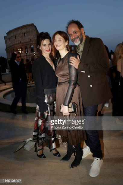 Valentina Cervi, Alba Rohrwacher and Luca Guadagnino attend the Cocktail at Fendi Couture Fall Winter 2019/2020 on July 04, 2019 in Rome, Italy.
