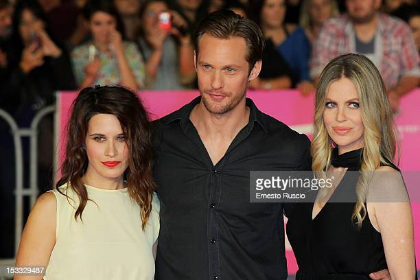 Valentina Cervi Alexander Skarsgard and Kristin Bauer attend the 'True Blood 5' photocall during the RomaFictionFest on 2012 at Auditorium Parco...