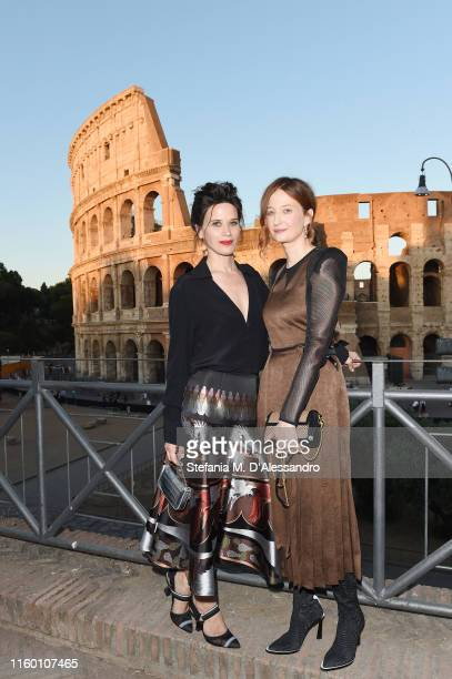 Valentina Cervi and Alba Rohrwacher attend the Cocktail at Fendi Couture Fall Winter 2019/2020 on July 04 2019 in Rome Italy
