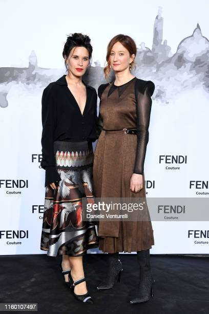 Valentina Cervi and Alba Rohrwacher attends the Cocktail at Fendi Couture Fall Winter 2019/2020 on July 04 2019 in Rome Italy