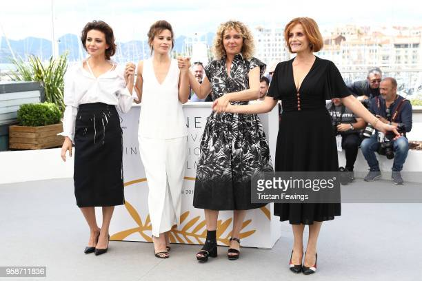 Valentina Cervi Jasmine Trinca director Valeria Golino and Isabella Ferrari attend the photocall for Euforia during the 71st annual Cannes Film...