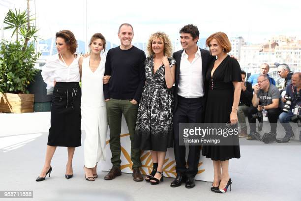 Valentina Cervi Jasmine Trinca Valerio Mastandrea director Valeria Golino Riccardo Scamarcio and producer Viola Prestieri attend the photocall for...