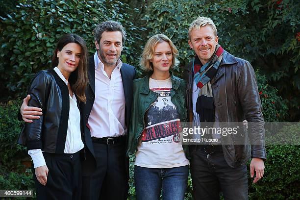 Valentina Cervi Massimo Poggio Antonia Liskova and Kaspar Capparoni attend the 'Solo Per Amore' TV movie photocall at Mediaset Studios on December 17...