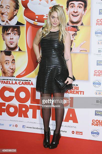 Valentina De Laurentiis attends the 'Colpi Di Fortuna' premiere at Auditorium Parco Della Musica on December 14 2013 in Rome Italy