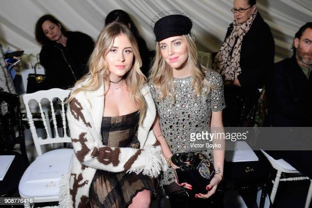 Valentina Ferragni and Chiara Ferragni attend the Christian Dior Haute Couture Spring Summer 2018 show as part of Paris Fashion Week on January 22...