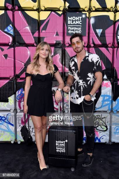 Valentina Ferragni and Luca Vezil attend Montblanc cocktail party during the 94th Pitti Immagine Uomo on June 14 2018 in Florence Italy