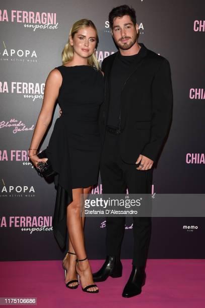 Valentina Ferragni and Luca Vezil attend the Chiara Ferragni Unposted premiere in Milan on September 16 2019 in Milan Italy