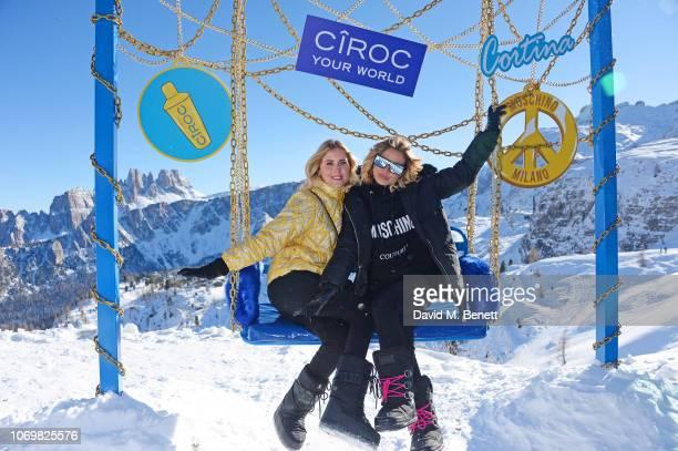 Valentina Ferragni and Veronica Ferraro attend the CIROC luxury Vodka x Moschino highaltitude wonderland party hosted by Jeremy Scott and Jodie Harsh...