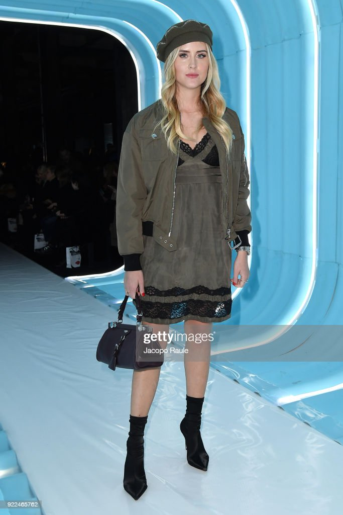 Valentina Ferragni attends the Moschino show during Milan Fashion Week Fall/Winter 2018/19 on February 21, 2018 in Milan, Italy.