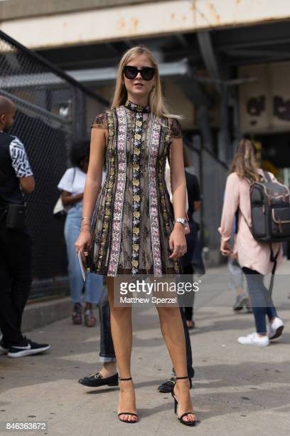 Valentina Ferragni is seen attending Coach during New York Fashion Week wearing Alice Olivia on September 12 2017 in New York City