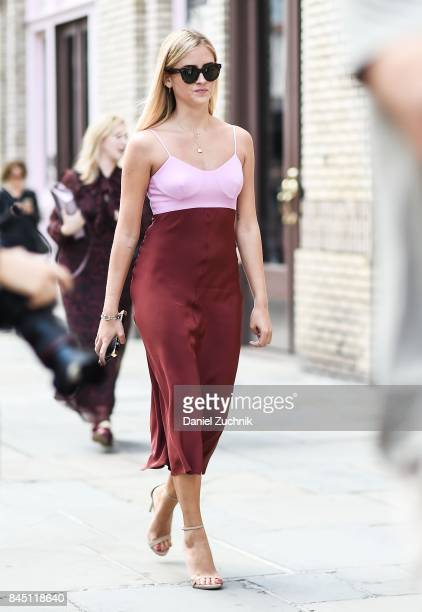 Valentina Ferragni is seen outside the Tibi show during New York Fashion Week Women's S/S 2018 on September 9 2017 in New York City