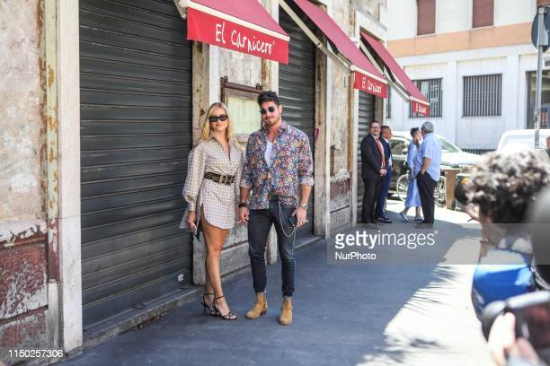 Valentina Ferragni, Luca Vezil at Etro during Milan Men's Fashion Week, Milano, Italy, on June 16 2019