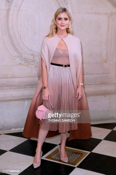 Valentina Ferragni poses during a photocall prior to the Fall-Winter 2019/2020 Ready-to-Wear collection fashion show by Christian Dior in Paris, on...