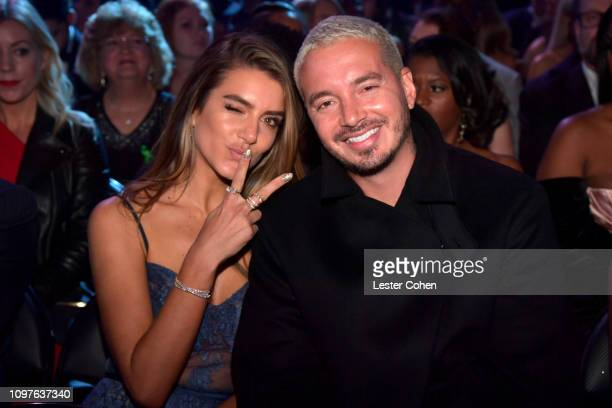Valentina Ferrer and J Balvin during the 61st Annual GRAMMY Awards at Staples Center on February 10, 2019 in Los Angeles, California.