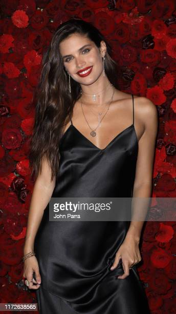 Valentina Ferrer and Jay Balvin attends Victoria's Secret Angel Sara Sampaio Hosts The Bombshell Intense Launch Party on September 05, 2019 in New...
