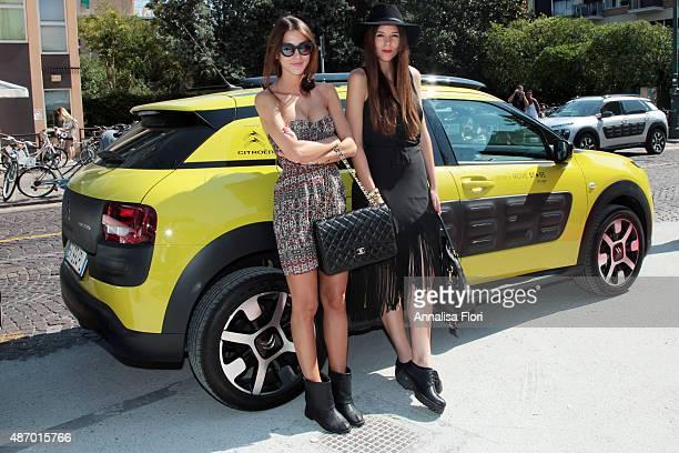 Valentina Fradegrada and Irene Colzi attends the Villa Laguna during the 72nd Venice Film Festival at Hotel Villa Laguna on September 4 2015 in...