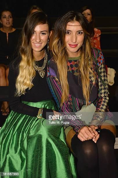 Valentina Fradegrada and Margherita Zanatta attend the Massimo Rebecchi show as part of Milan Fashion Week Womenswear Spring/Summer 2014 on September...