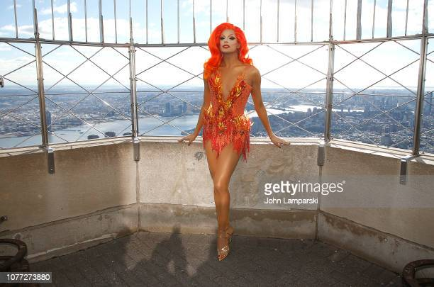 Valentina from the cast of 'RuPaul's Drag Race All Stars' visits the Empire State Building Hosts Cast Of 'RuPaul's Drag Race All Stars' at The Empire...
