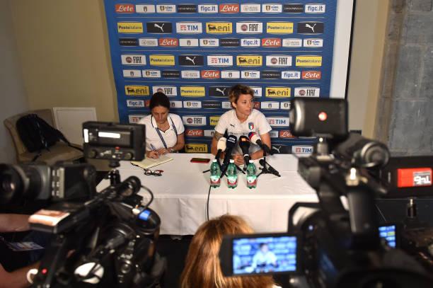 FRA: Italy Women Press Confernce: FIFA Women's World Cup France 2019