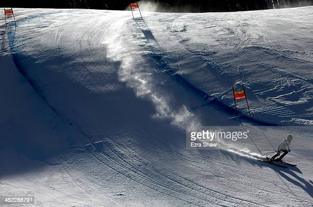 Valentina Golenkova of Russia in action during day 2 of training on Raptor for the FIS Beaver Creek Ladies Downhill World Cup on November 27 2013 in...