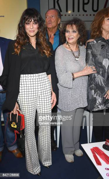 Valentina Lodovini Armand Assante and Claudia Cardinale attend the Kineo Diamanti Awards press conference during the 74th Venice Film Festival at on...