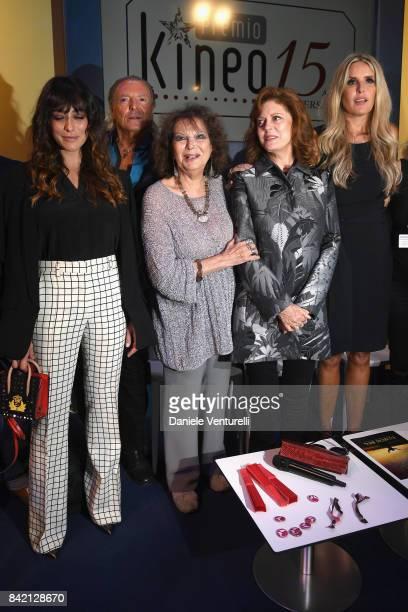 Valentina Lodovini Armand Assante Claudia Cardinale Susan Sarandon and Tiziana Rocca attend the Kineo Diamanti Awards press conference during the...