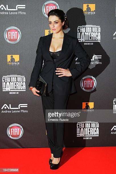 Valentina Lodovini attends the 'C'era Una Volta In America Director's Cut' premiere at Space Moderno on October 16 2012 in Rome Italy