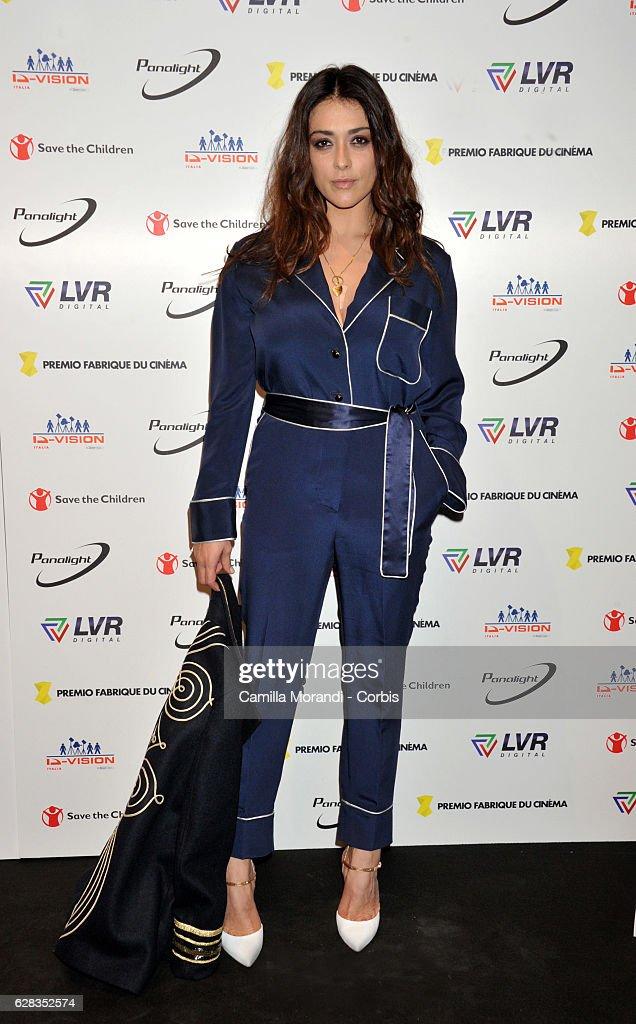 Valentina Lodovini attends the Fabrique Du Cinema Awards In Rome on December 7, 2016 in Rome, Italy.