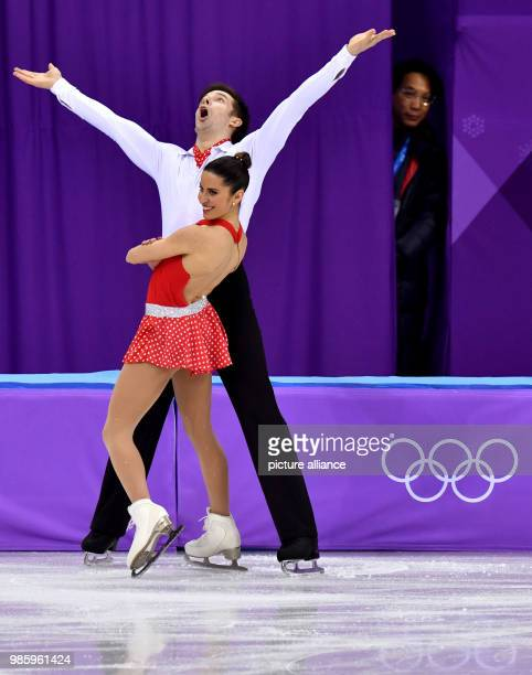 Valentina Marchei and Ondrej Hotarek from Italy in action during the figure skating pairs short program of the 2018 Winter Olympics in the Gangneung...