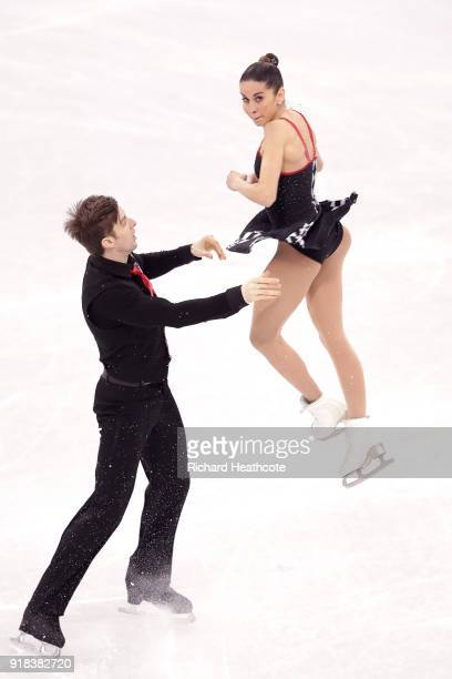 Valentina Marchei and Ondrej Hotarek of Italy compete during the Pair Skating Free Skating at Gangneung Ice Arena on February 15 2018 in Gangneung...