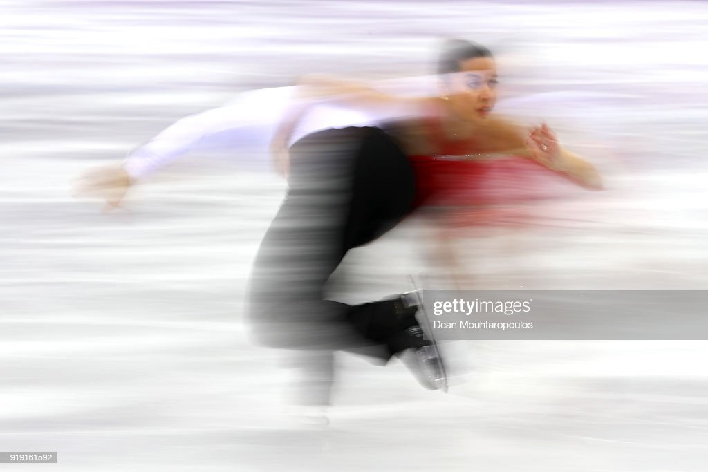 Valentina Marchei and Ondrej Hotarek of Italy compete during the Pair Skating Short Programduring the Pair Skating Short Program on day five of the PyeongChang 2018 Winter Olympics at Gangneung Ice Arena on February 14, 2018 in Gangneung, South Korea.