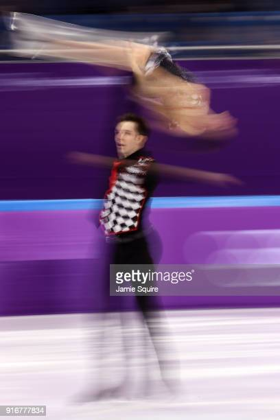 Valentina Marchei and Ondrej Hotarek of Italy compete in the Figure Skating Team Event – Pairs Free Skating on day two of the PyeongChang 2018 Winter...