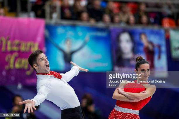 Valentina Marchei and Ondrej Hotarek of Italy compete in the Pairs Short Program during day one of the ISU Grand Prix of Figure Skating Rostelecom...