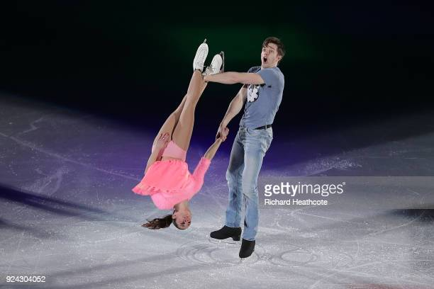 Valentina Marchei and Ondrej Hotarek of Italy perform during the Figure Skating Gala Exhibition on day 16 of the PyeongChang 2018 Winter Olympics at...