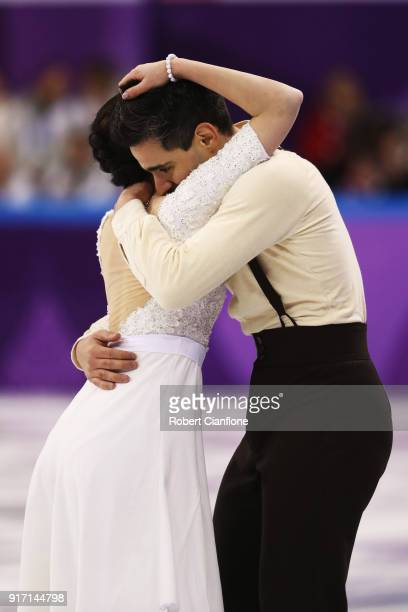 Valentina Marchei and Ondrej Hotarek of Italy skate during the Ice Dance Free Dance section of the Team Event on day three of the PyeongChang 2018...