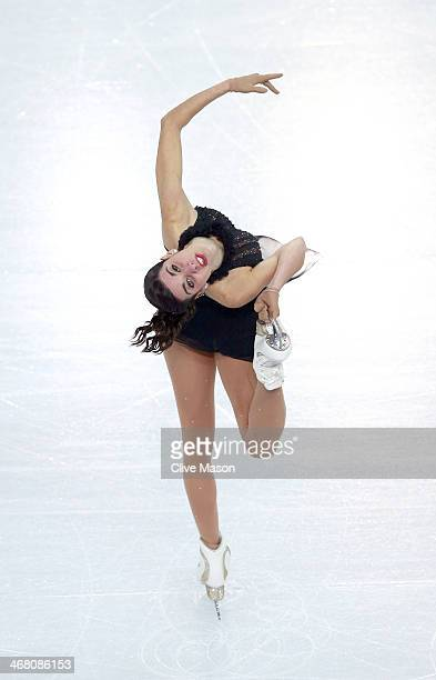 Valentina Marchei of Italy competes in the Team Ladies Free Skating during day two of the Sochi 2014 Winter Olympics at Iceberg Skating Palace onon...